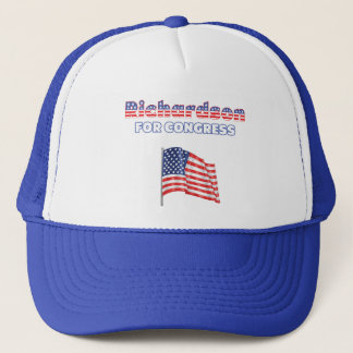 Richardson for Congress Patriotic American Flag De Trucker Hat