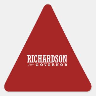 RICHARDSON FOR GOVERNOR 2014 TRIANGLE STICKER