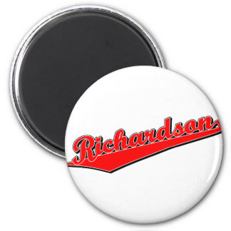 Richardson in Red 2 Inch Round Magnet