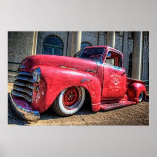 Richardson Motor Company Rat Chevy Poster