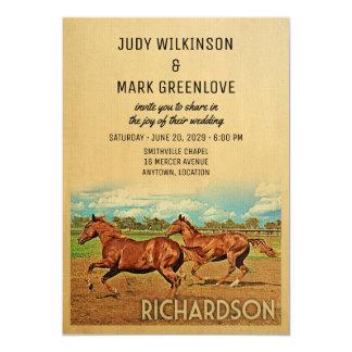 Richardson Texas Wedding Invitation Horses