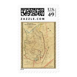 Richardson's Map of West Virginia Postage