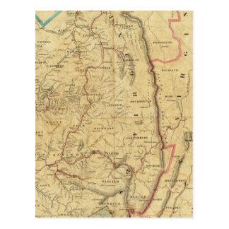 Richardson's Map of West Virginia Postcard