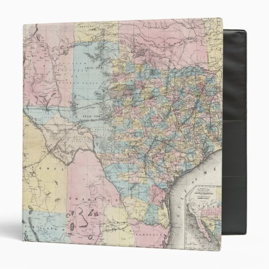 Richardson's New Map Of The State Of Texas Binder