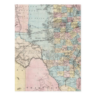 Richardson's New Map Of The State Of Texas Postcard