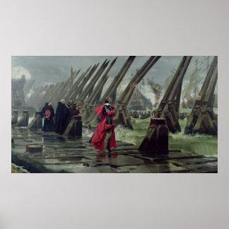 Richelieu en la pared de mar en La Rochelle, 1881 Póster