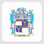 Richie Coat of Arms - Family Crest Square Stickers