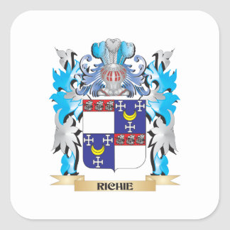 Richie Coat of Arms - Family Crest Square Sticker