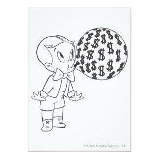 Richie Rich Blowing Bubble - B&W Card