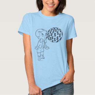 Richie Rich Blowing Bubble - B&W T Shirt