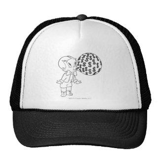 Richie Rich Blowing Bubble - B&W Trucker Hat