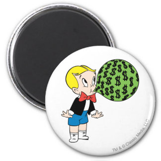 Richie Rich Blowing Bubble - Color 2 Inch Round Magnet