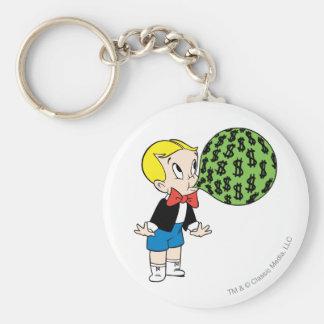 Richie Rich Blowing Bubble - Color Basic Round Button Keychain