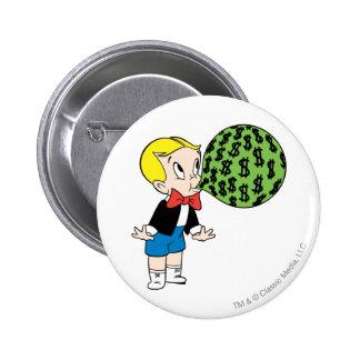 Richie Rich Blowing Bubble - Color Pinback Button