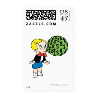 Richie Rich Blowing Bubble - Color Postage Stamp
