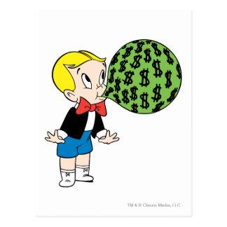 Richie Rich Blowing Bubble - Color Postcard
