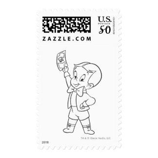 Richie Rich Dollar Bill B&W Postage