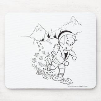Richie Rich Hiking - B&W Mouse Pad