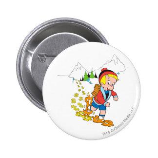 Richie Rich Hiking - Color Pinback Button