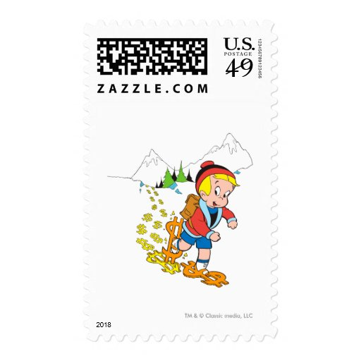 Richie Rich Hiking - Color Postage Stamps