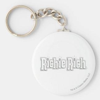 Richie Rich Logo - B&W Keychain