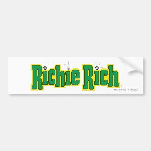 Richie Rich Logo - Color Bumper Sticker