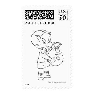 Richie Rich Money Bag - B&W Postage