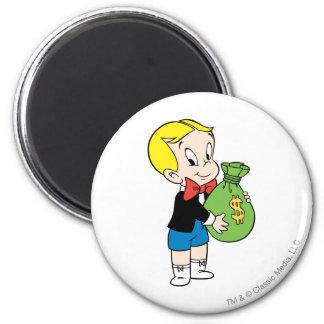 Richie Rich Money Bag - Color 2 Inch Round Magnet