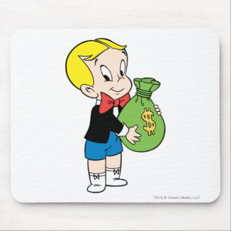 Richie Rich Money Bag - Color Mouse Pad