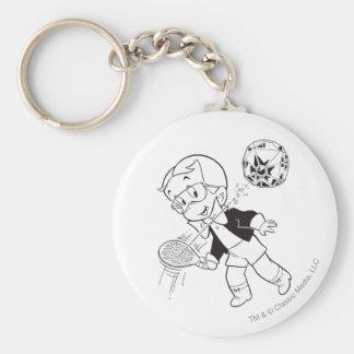 Richie Rich Paddle Ball - B&W Keychain