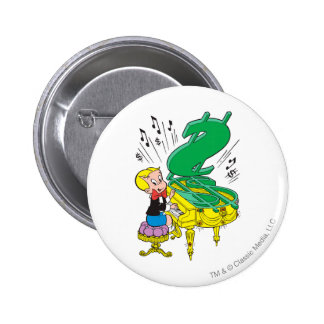 Richie Rich Playing Piano - Color Button
