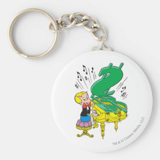 Richie Rich Playing Piano - Color Keychain