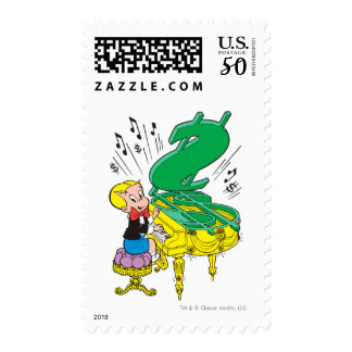 Richie Rich Playing Piano - Color Postage