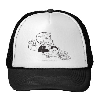 Richie Rich Studying - B&W Hat