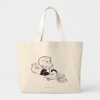 Richie Rich Studying - B&W Tote Bags