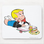 Richie Rich Studying - Color Mouse Pad