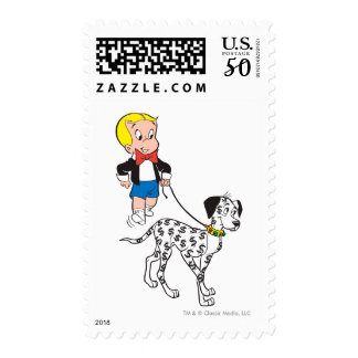 Richie Rich Walks Dollar the Dog - Color Postage