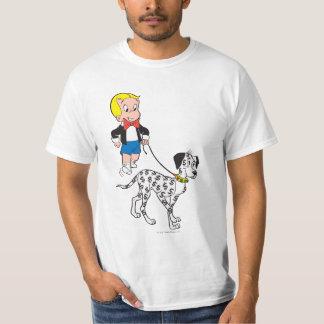 Richie Rich Walks Dollar the Dog - Color T-Shirt