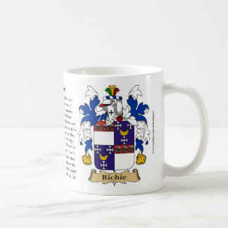 Richie, the Origin, the Meaning and the Crest Coffee Mug