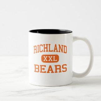 Richland - Bears - High School - Richland Missouri Two-Tone Coffee Mug
