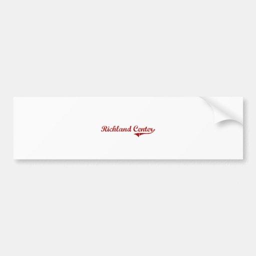 Richland Center Wisconsin Classic Design Car Bumper Sticker