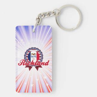 Richland, IA Rectangle Acrylic Keychain