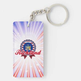 Richland, NY Rectangular Acrylic Key Chains