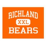 Richland - osos - High School secundaria - Tarjetas Postales