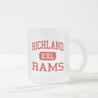 Richland - Rams - Middle - Johnstown Pennsylvania Frosted Glass Coffee Mug