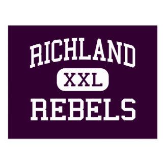 Richland - rebeldes - alto - colinas del norte de postal