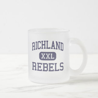 Richland - Rebels - High - North Richland Hills 10 Oz Frosted Glass Coffee Mug