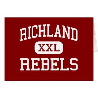 Richland - Rebels - High School - Essex Missouri Greeting Card