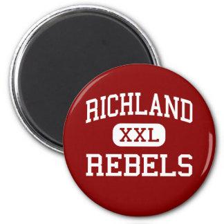 Richland - Rebels - High School - Essex Missouri Fridge Magnet