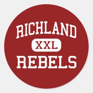Richland - Rebels - High School - Essex Missouri Round Stickers